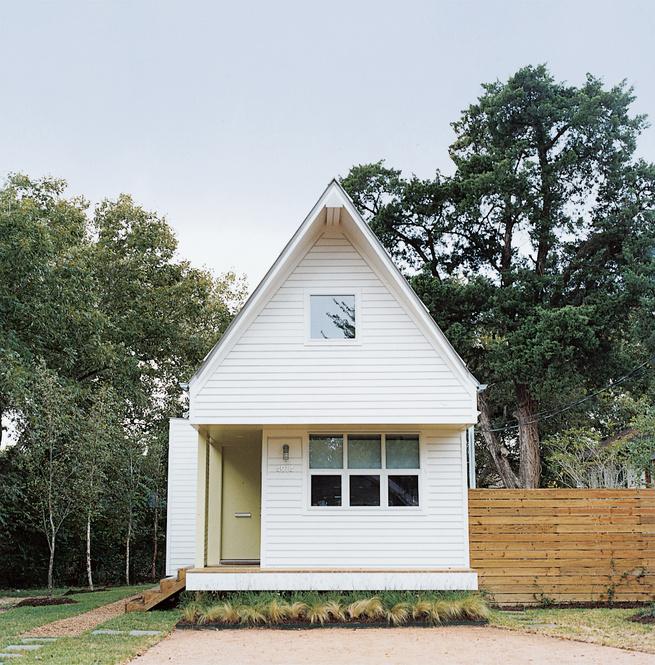 Modern tiny house facade.