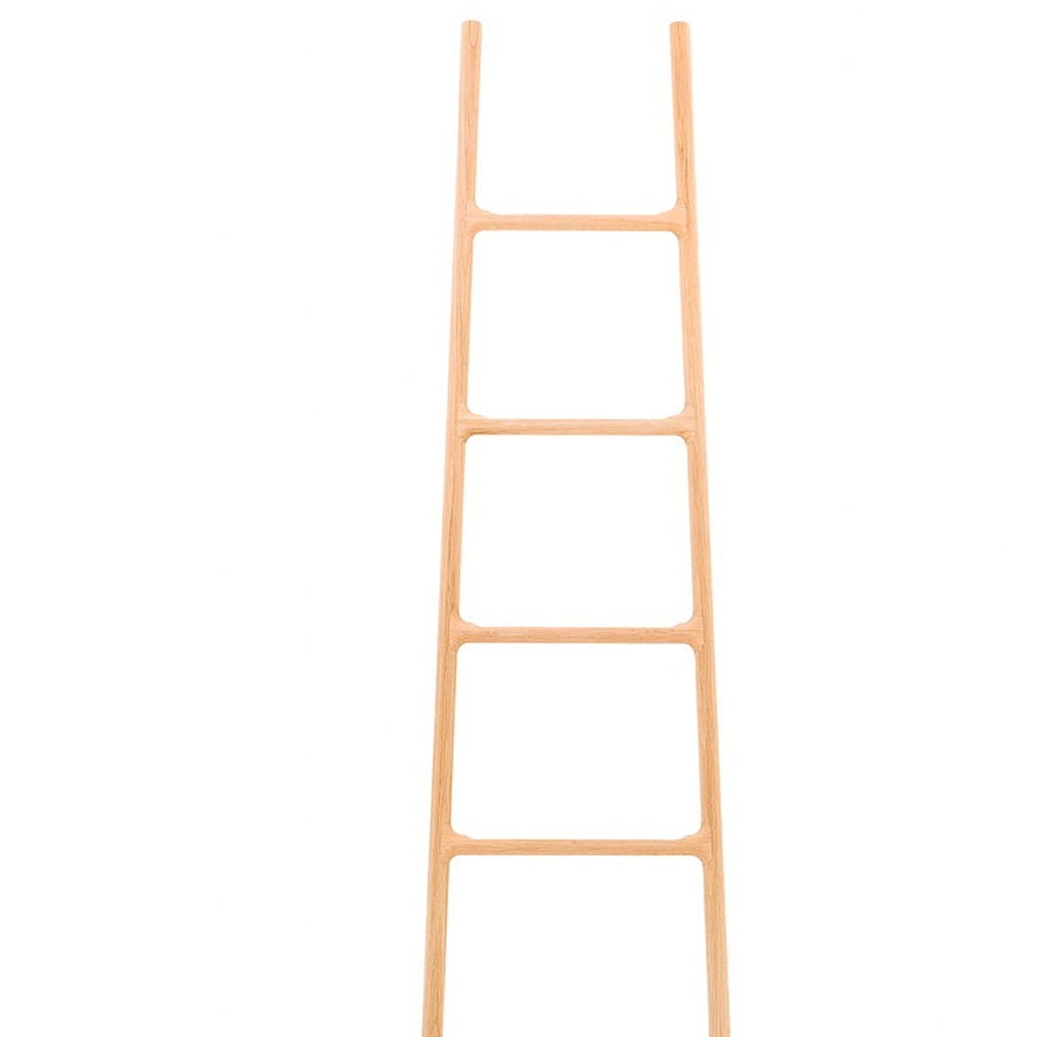 Wooden ladder with accessories.