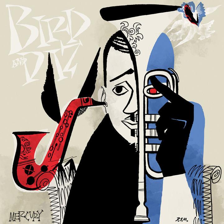 Parker, Gillespie album cover David Stone Martin