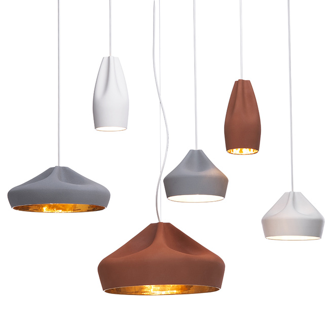 Pleat Box pendant lights by Hande Akçaylı and Murat Koçyiğit of Mashallah Design