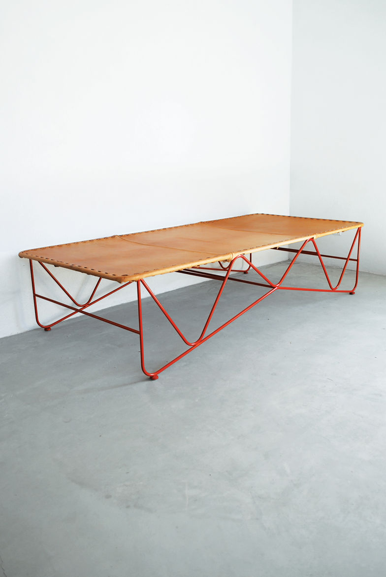 Saddle Leather Cot by Garza Furniture