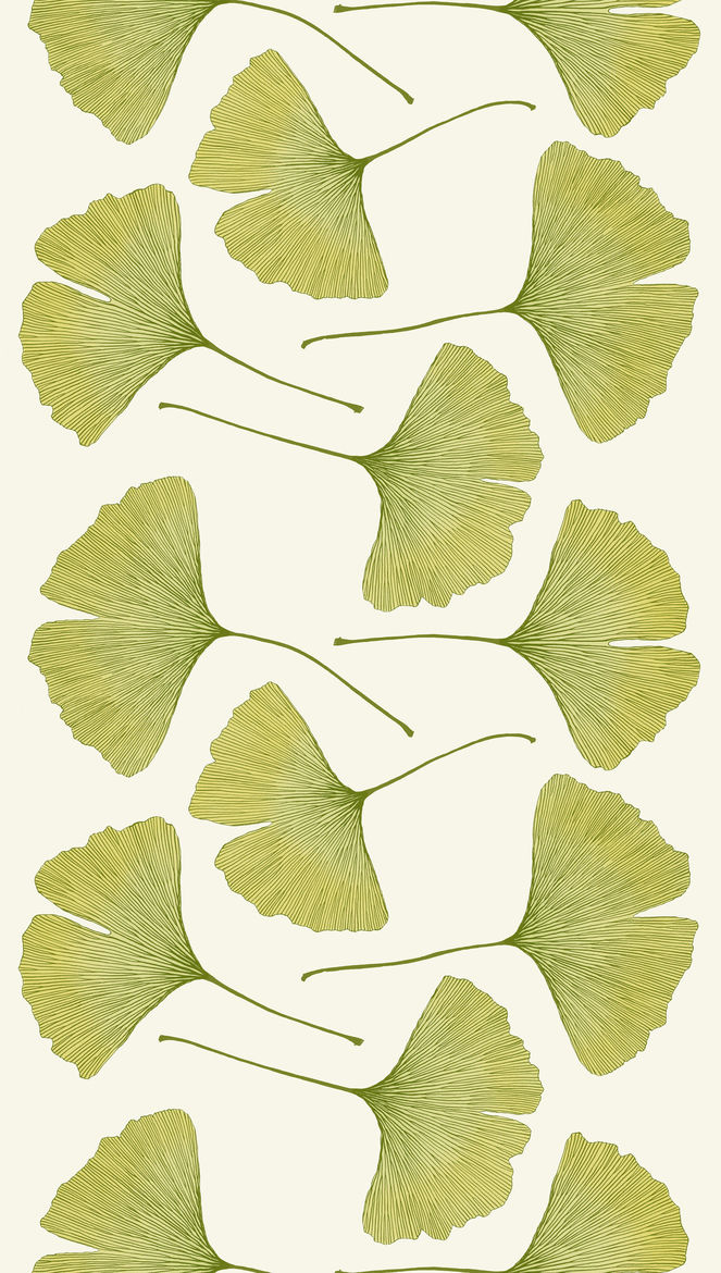 Gingko textile pattern by Kristina Isola for Marimekko