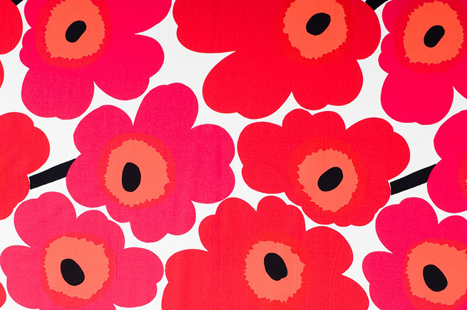 Unikko Poppy print design by Maija Isola for Marimekko