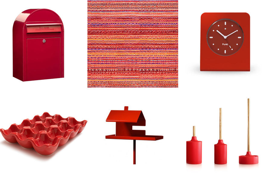 Modern red household products from Dwell archives