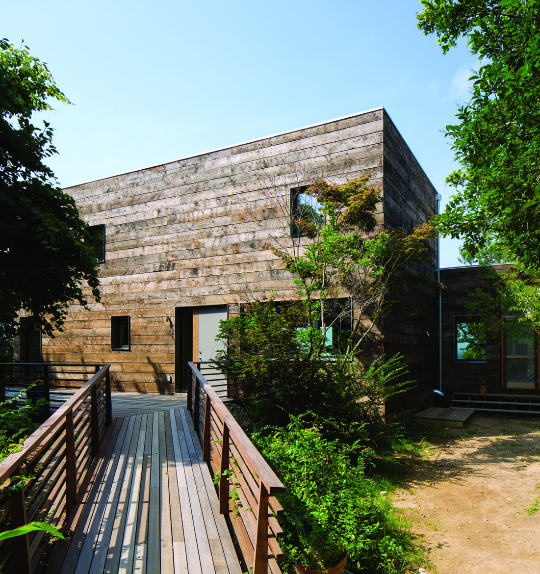 Passive house renovation project on Long Island in New York designed by Ryall Porter Sheridan Architects