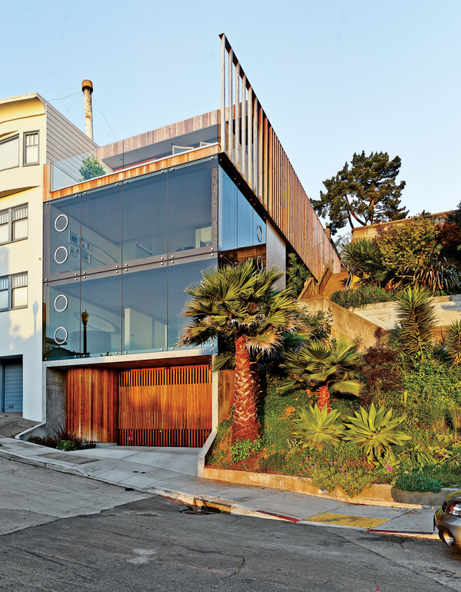 Modern wood and glass house in San Francisco