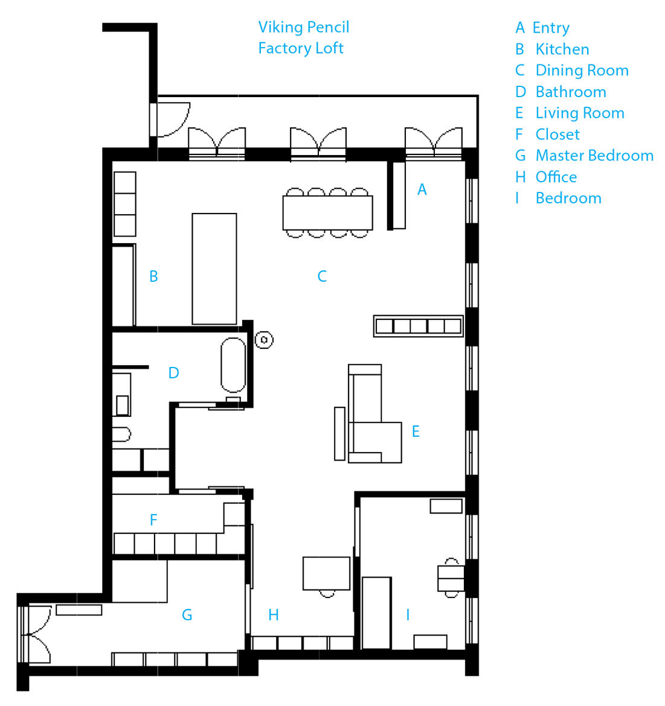 Modern Danish design home floorplan