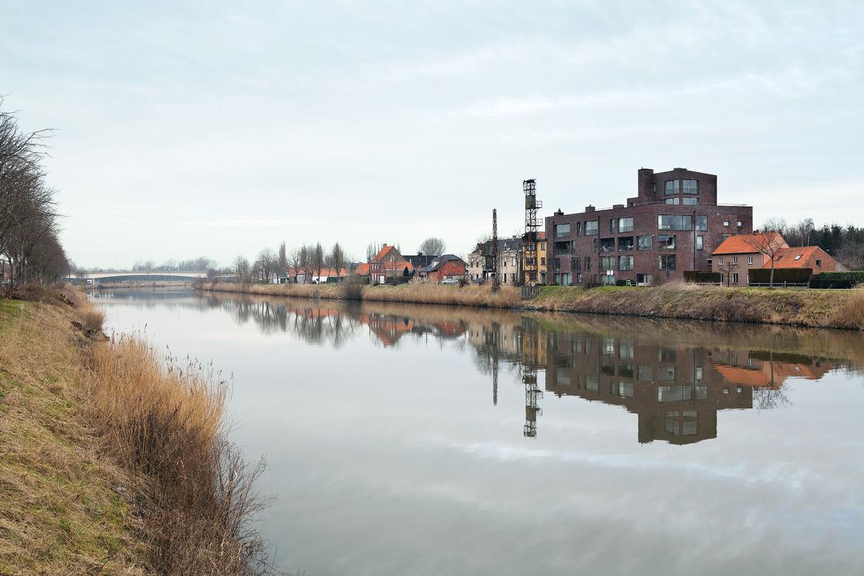 Waterfront view of Bellem, Belgium