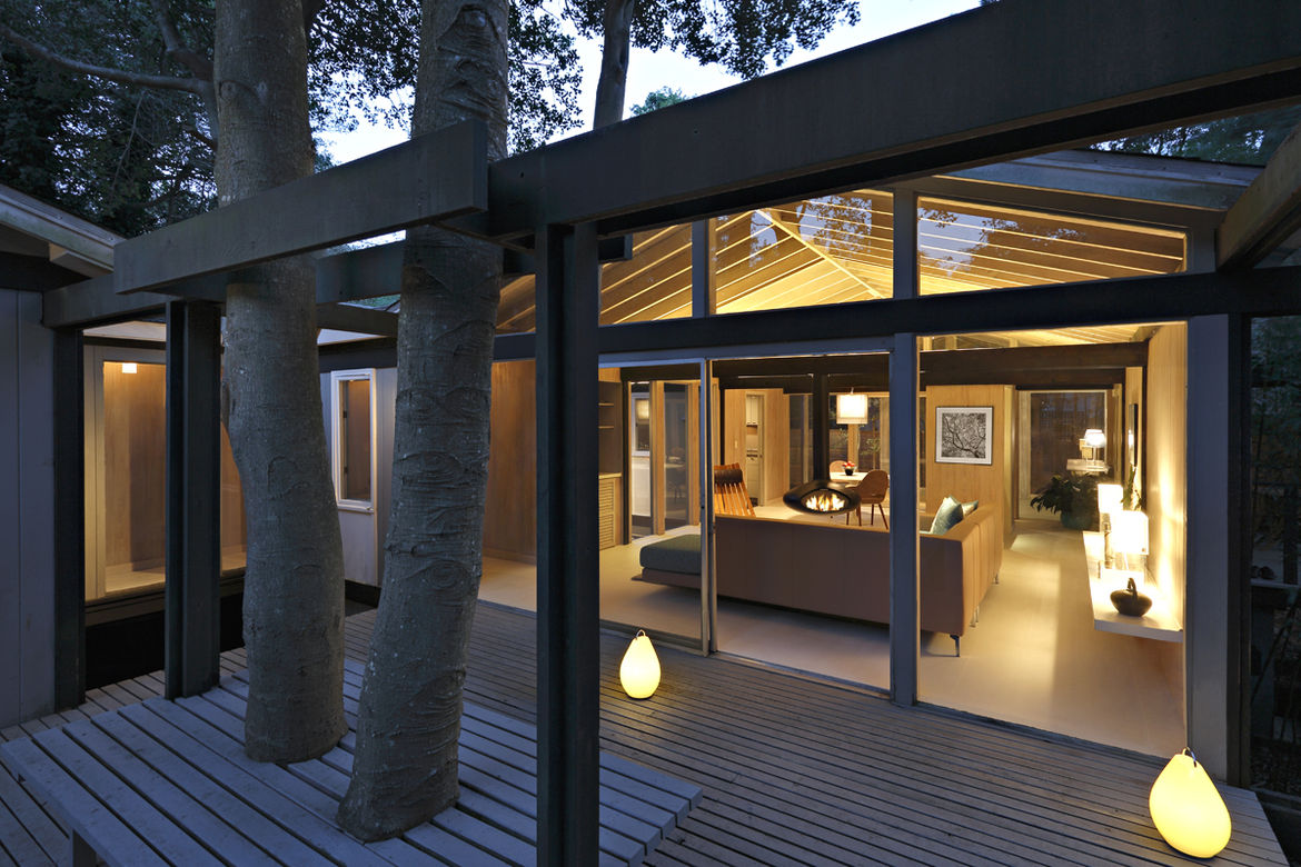 Don Page modern beach house on Fire Island restoration by Christopher Rawlins of Rawlins Design