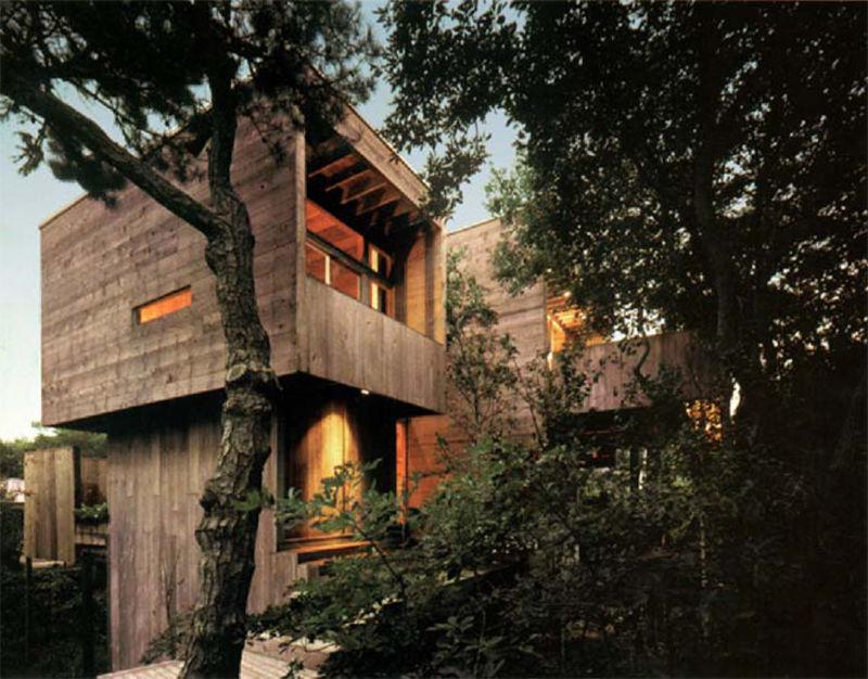 Harry Bates wood modern beach house on Fire Island