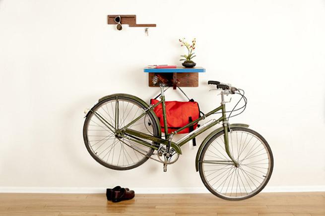 Bike shelf by Board By Design