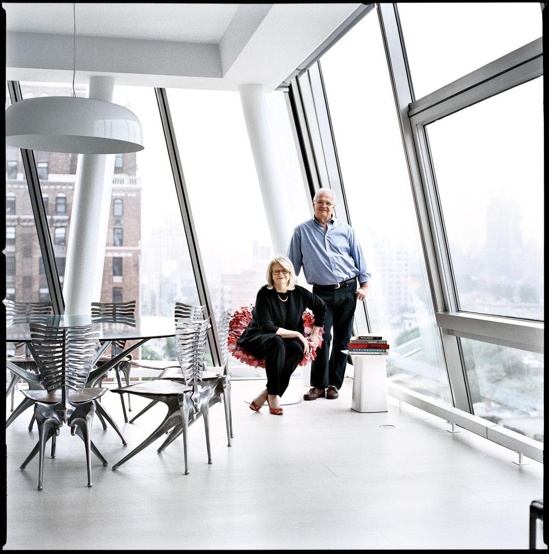 Modern urban apartment above High Line in New York City