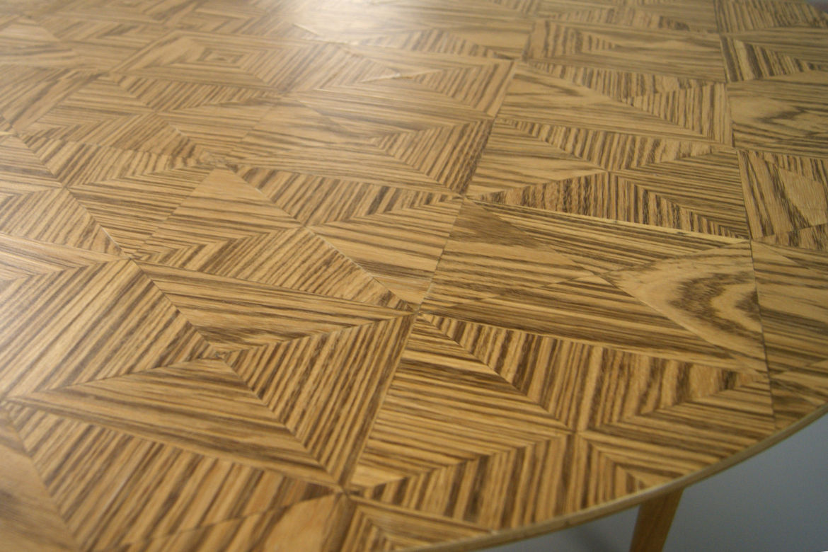 Lightning and Kinglyface wood inlay tables London Design Festival 2013 trends