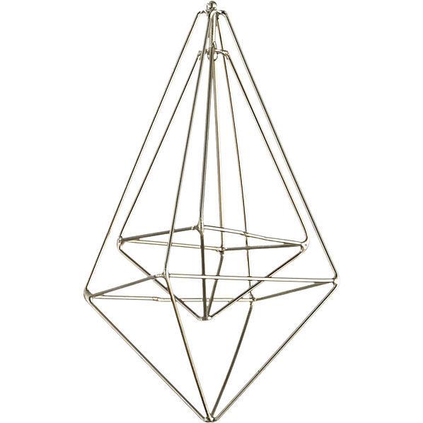 Wire Drop Silver Ornament
