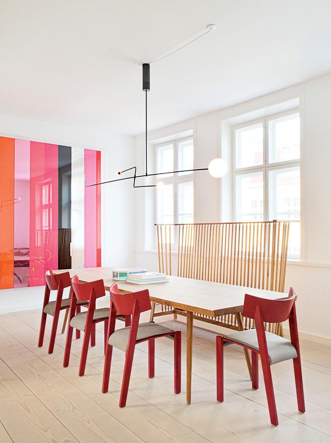 the apartment interior dining room