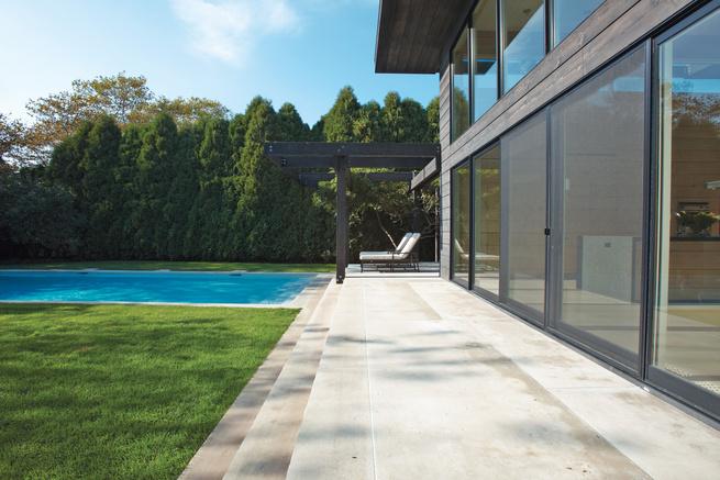 sustainable mid-century beach house in the hamptons patio