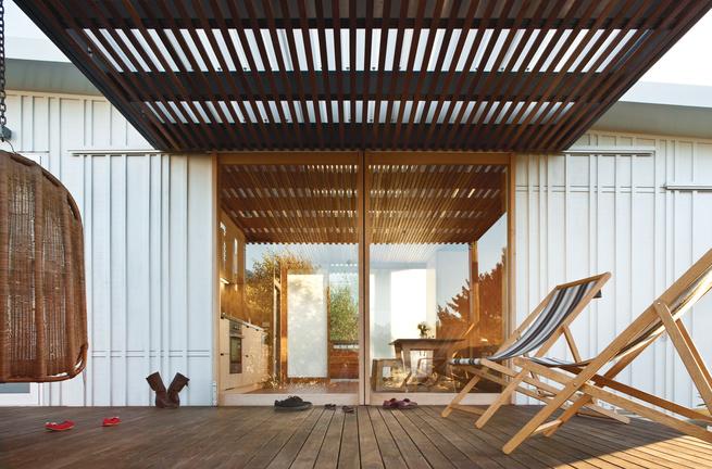 compact prefab new zealand exterior deck