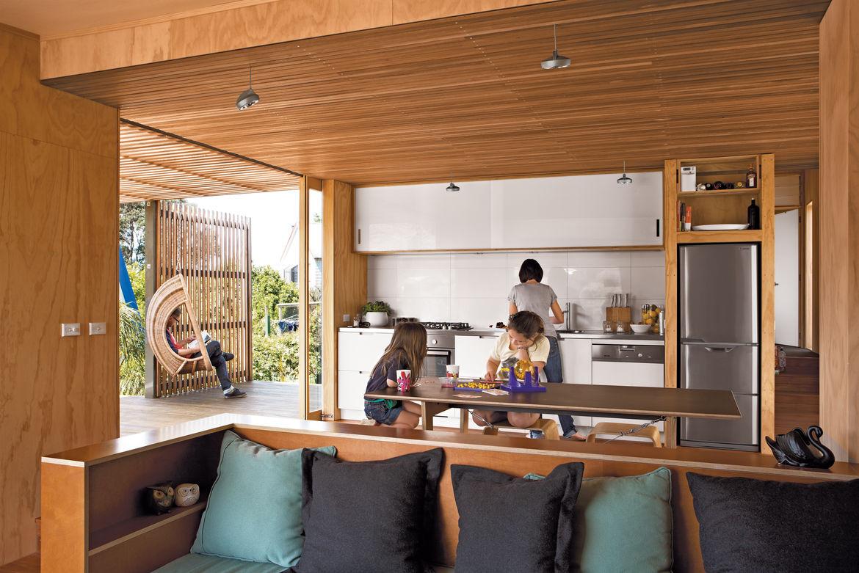 compact prefab new zealand interior indoor outdoor kitchen
