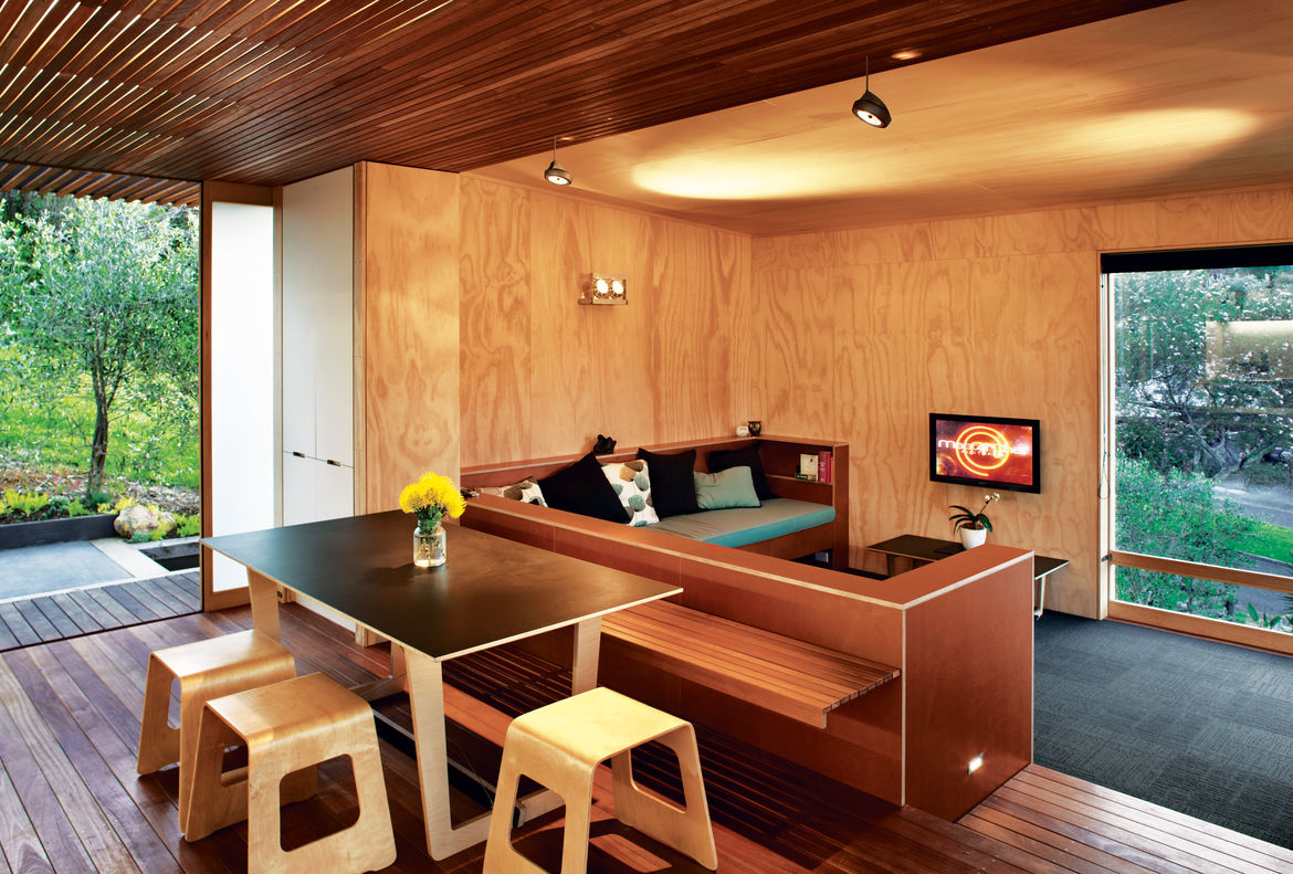 compact prefab new zealand interior dining room