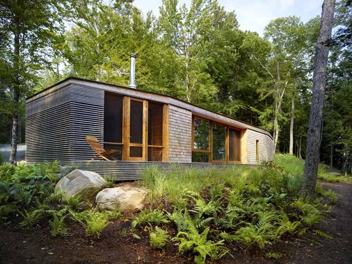 Stealth Cabin superkul modern log cabin Ontario Cabin