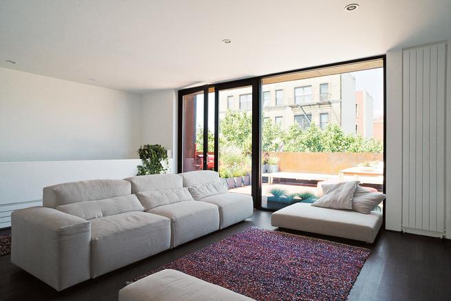 Brooklyn renovation interior living room