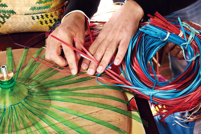 emerging spanish designer crafts textile-like hanging lamps