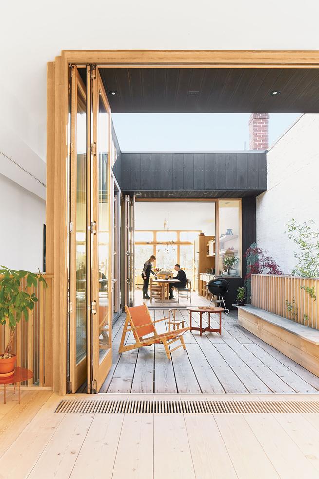mjolk boutique owners renovate their Toronto dwelling exterior deck