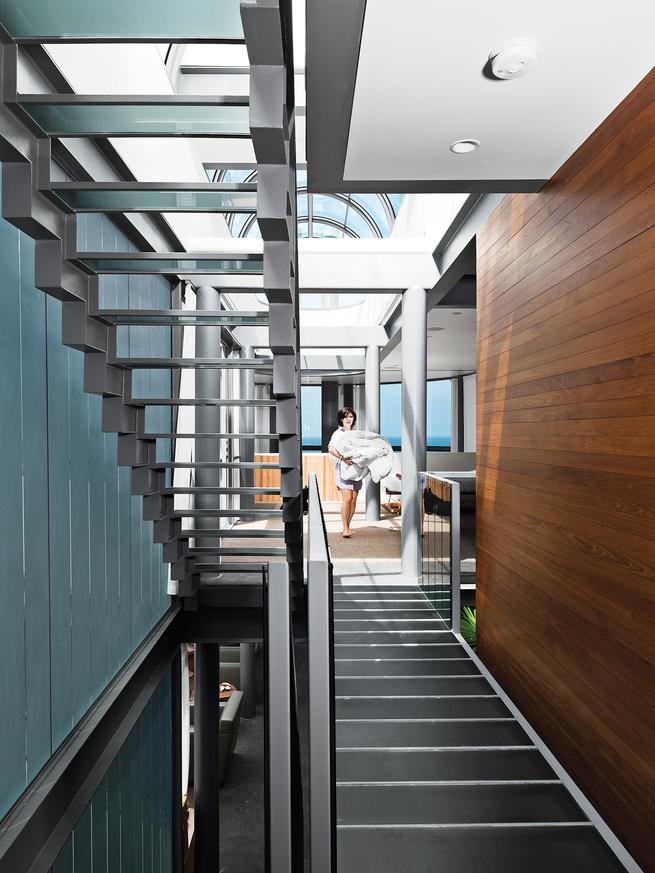 renovated Ray Kappe bungalow in Manhattan Beach hallway