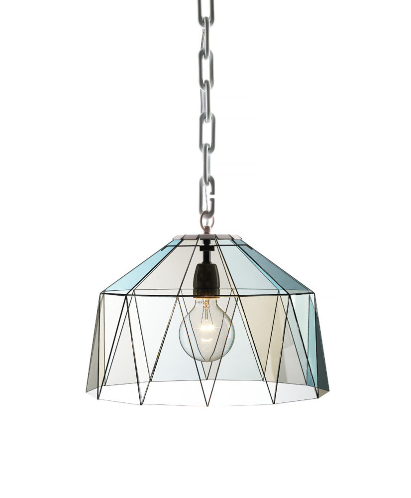 glass pendant tiffany style lamp by  Åsa Jungnelius, for Bsweden Stockholm Furniture Fair