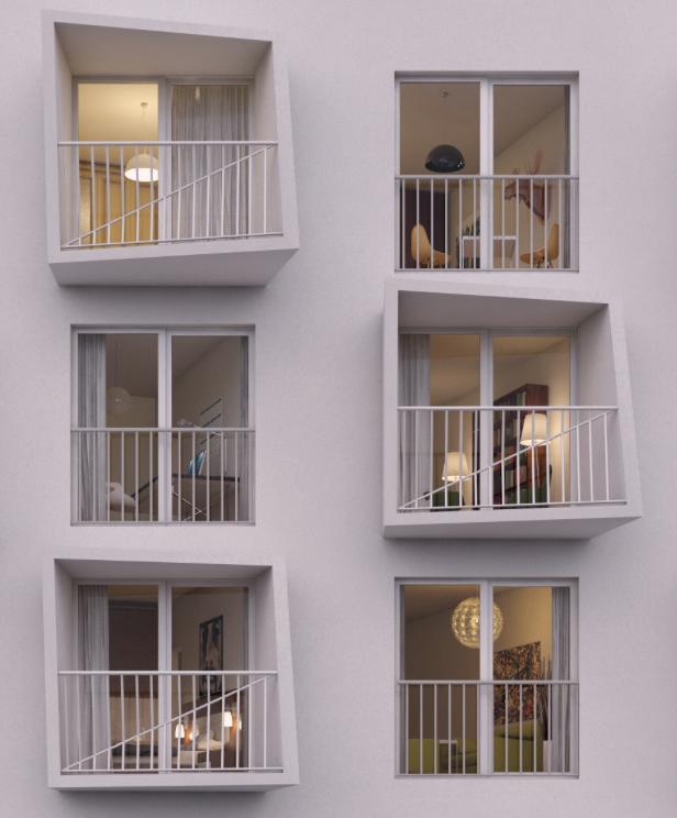 Slovakia, windows, housing project