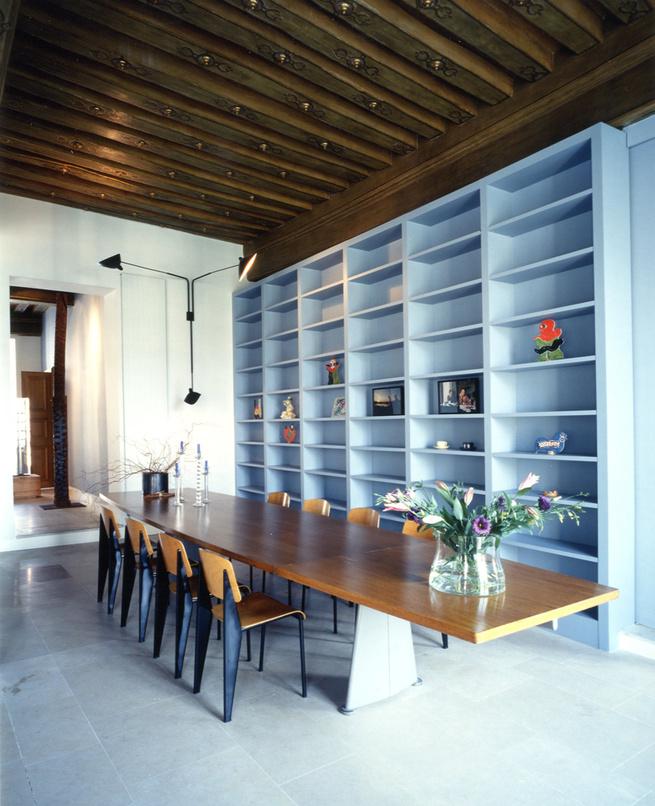 Massimiliano Doriana Fuksas designers at home architect apartment Paris Jean Prouve