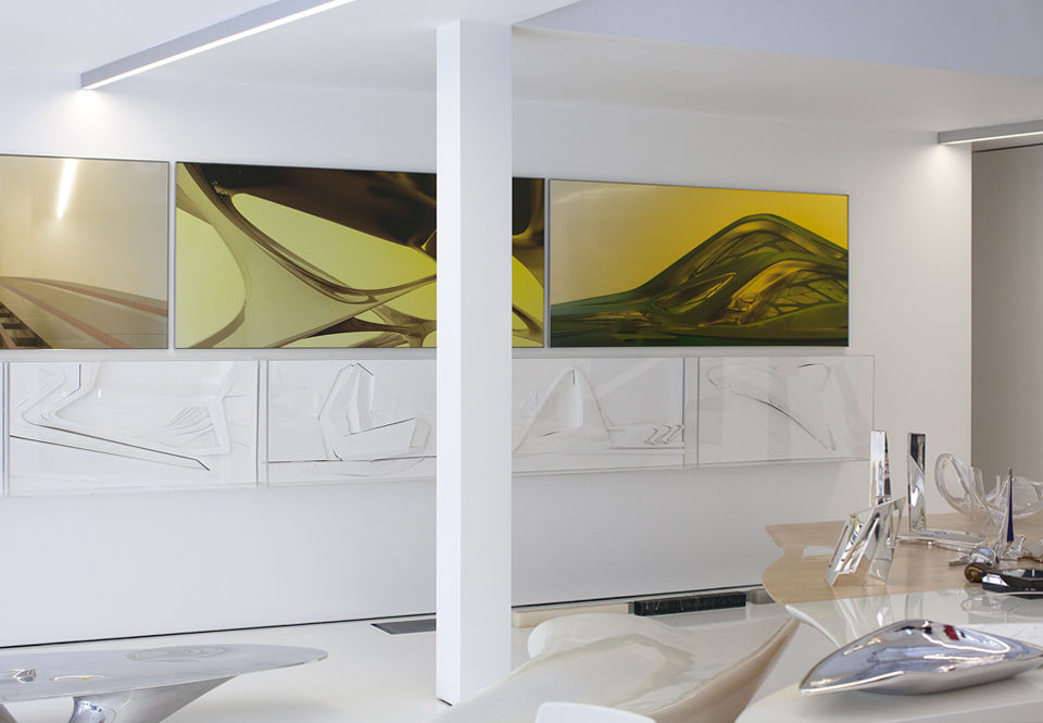 Zaha Hadid London apartment architecture designers at home