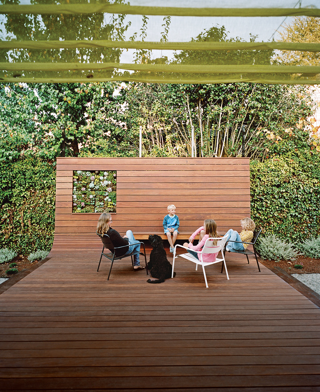 modern backyard deck ipe wood