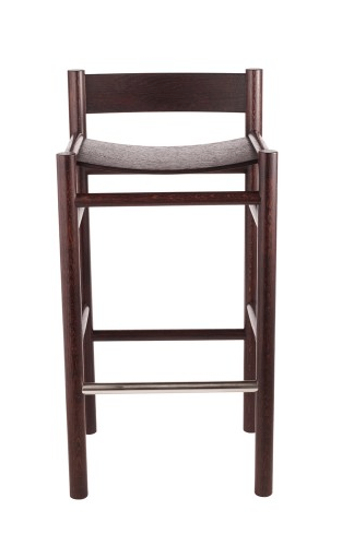 an oak wood bar chair