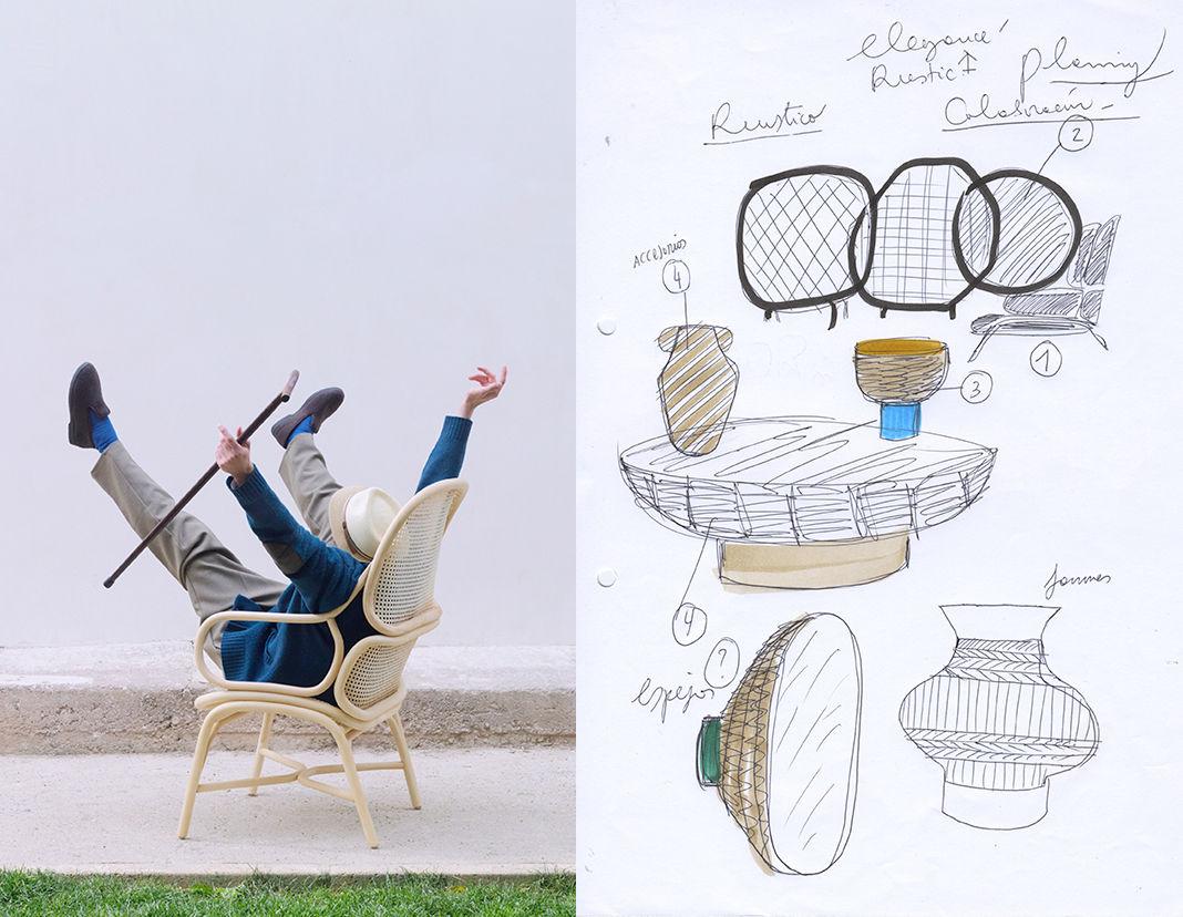 pale wood chair