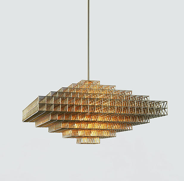 Roll & Hill lighting chandelier Philippe Malouin new 2014