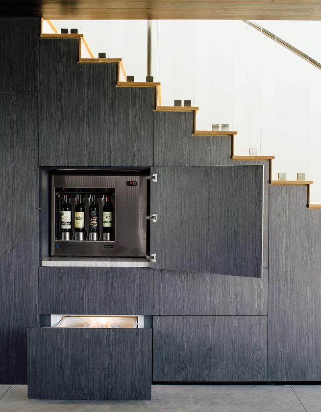 wine storage underneath the staircase