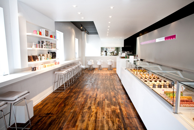 Nadege pastry shop interior.