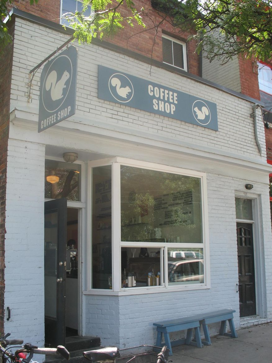 White Squirrel Coffee Shop exterior in Toronto