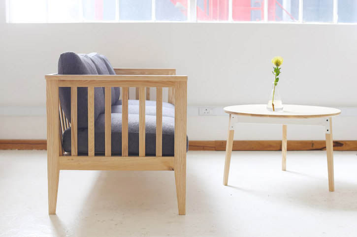 Wooden settle bench