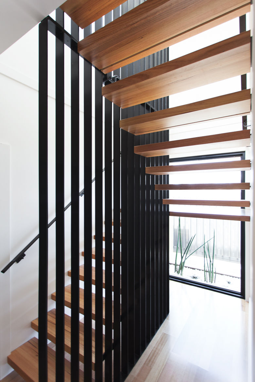 Byron Bay house staircase.