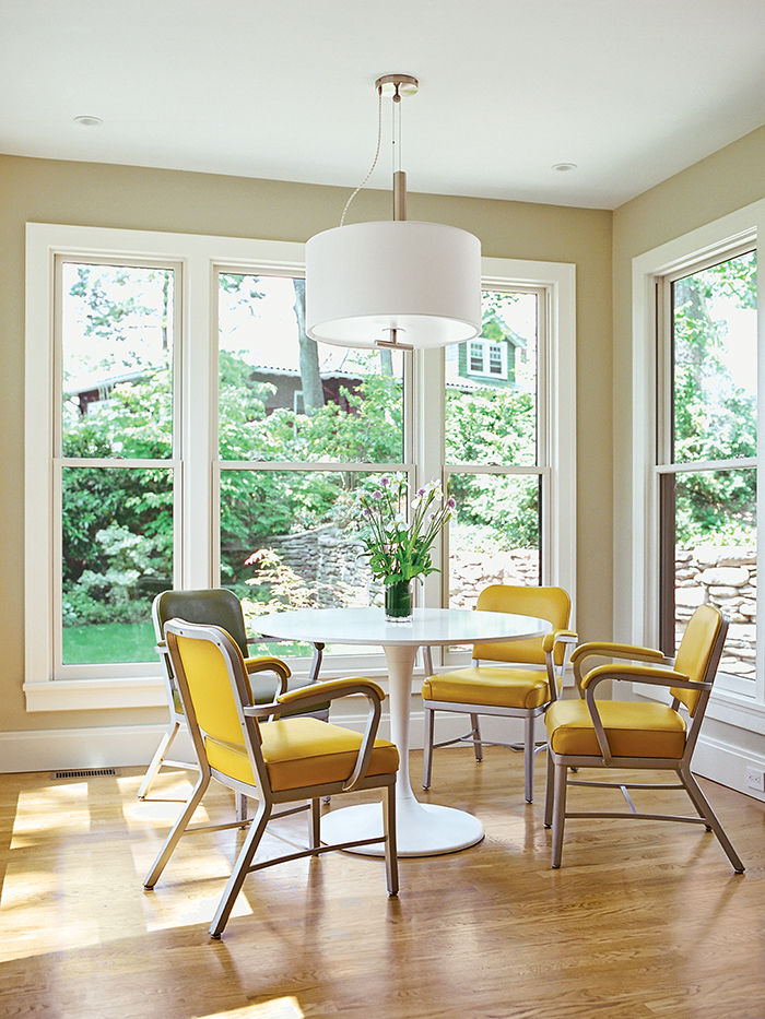 sun filled breakfast nook
