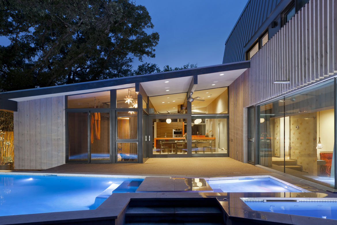 Midcentury renovated home with room