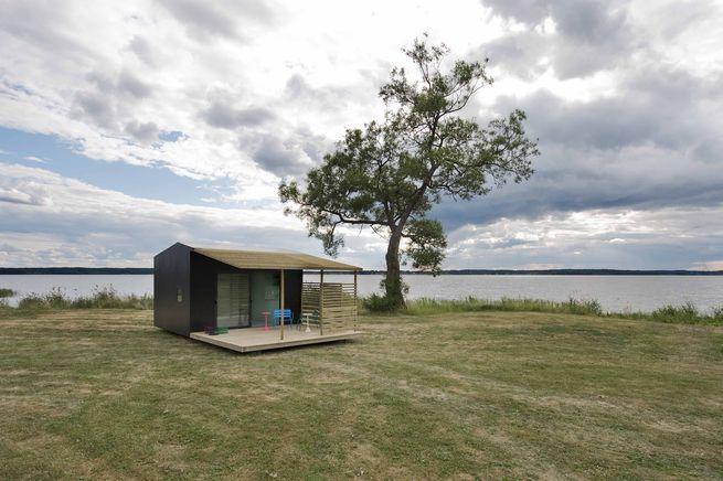Tiny prefab cabin in Sweden