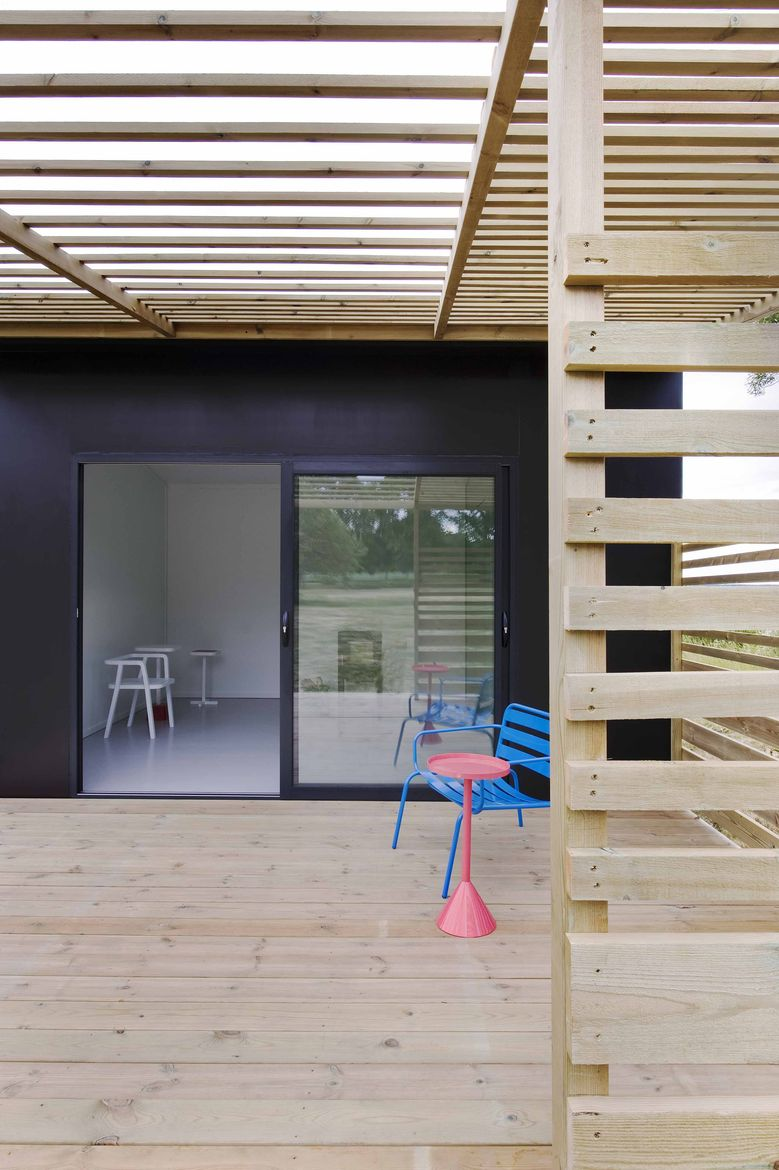 Prefab modules with wooden deck