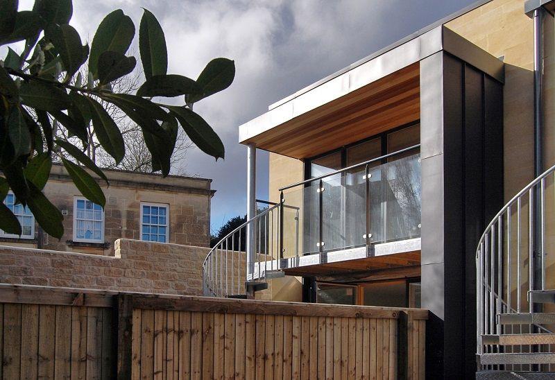 Ralph Allen Yard green building development with South-facing balcony