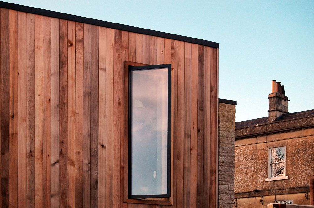 Ralph Allen Yard prefab wood exterior panels