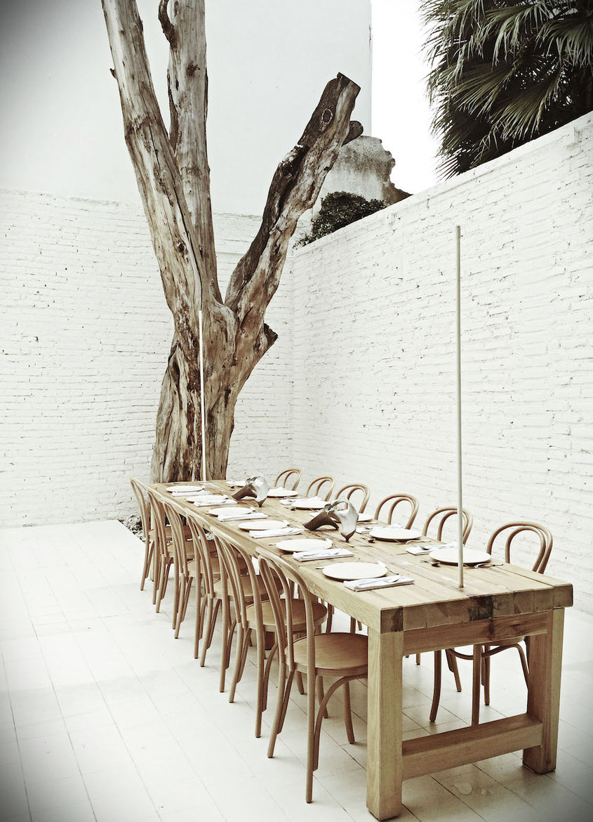 Private room at Hueso restaurant in Mexico