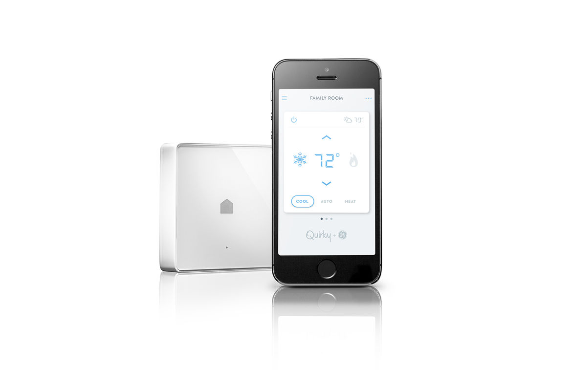 quirky and GE smart home connected technology Norm HVAC controller