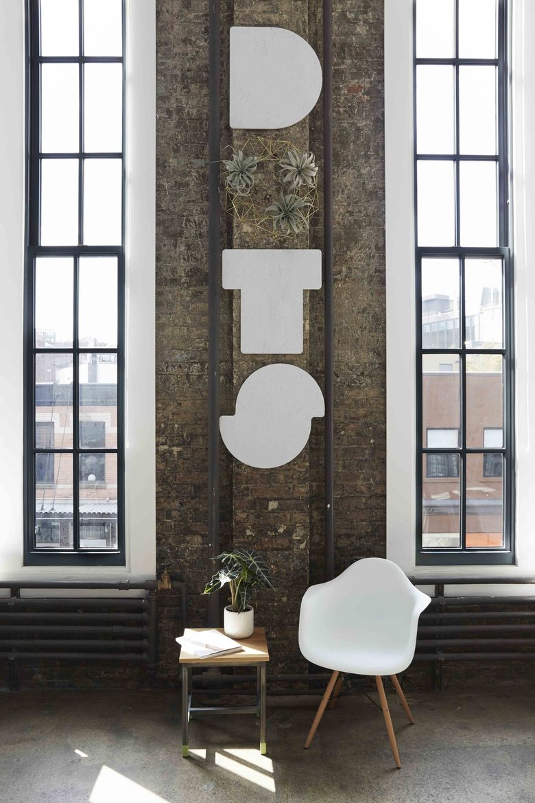 Dots office with custom wall signage